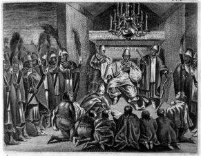8 King-of Kongo receiving Dutch-Ambassadors-1642